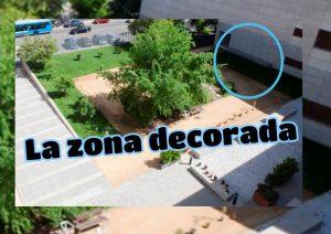 La zona decorada