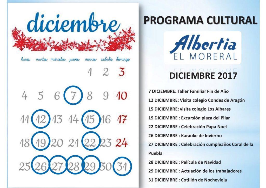 ElMoreralCalendario2017.diciembre navidad residencia albertia