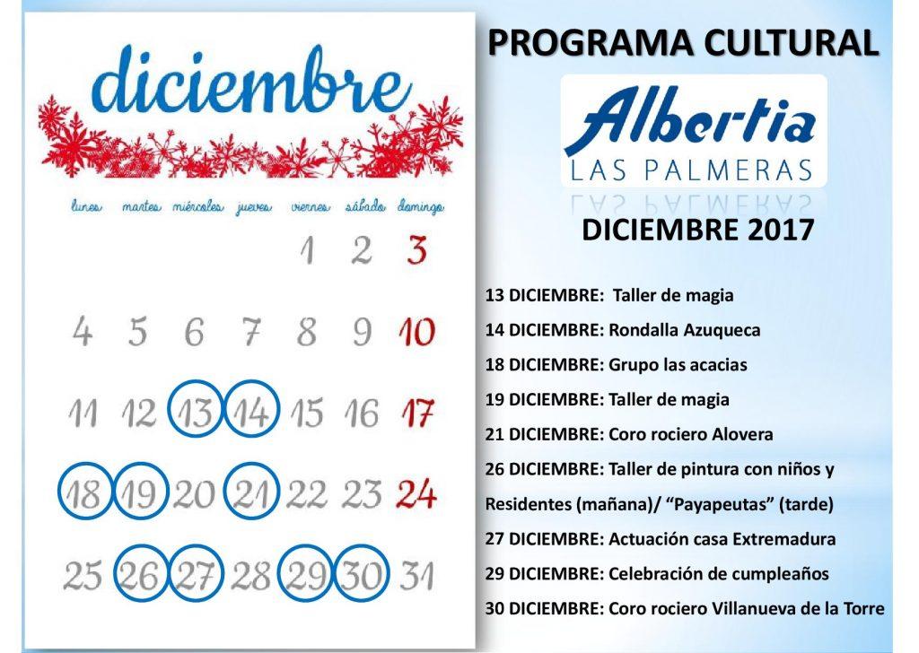 navidad residencia albertia LasPalmerasCalendario2017.diciembre
