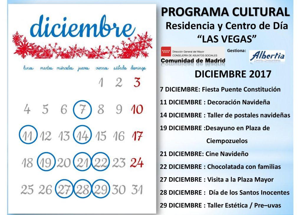 navidad residencia albertia LasVegasCalendario2017.diciembre
