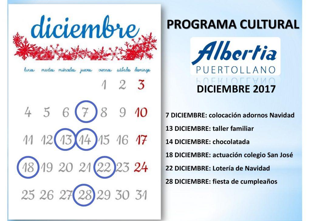 navidad residencia albertia PuertollanoCalendario2017.diciembre