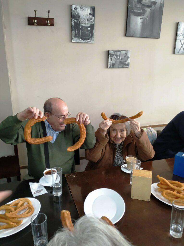 residencia de mayores majadahonda albertia valle de la oliva chocolate con churros