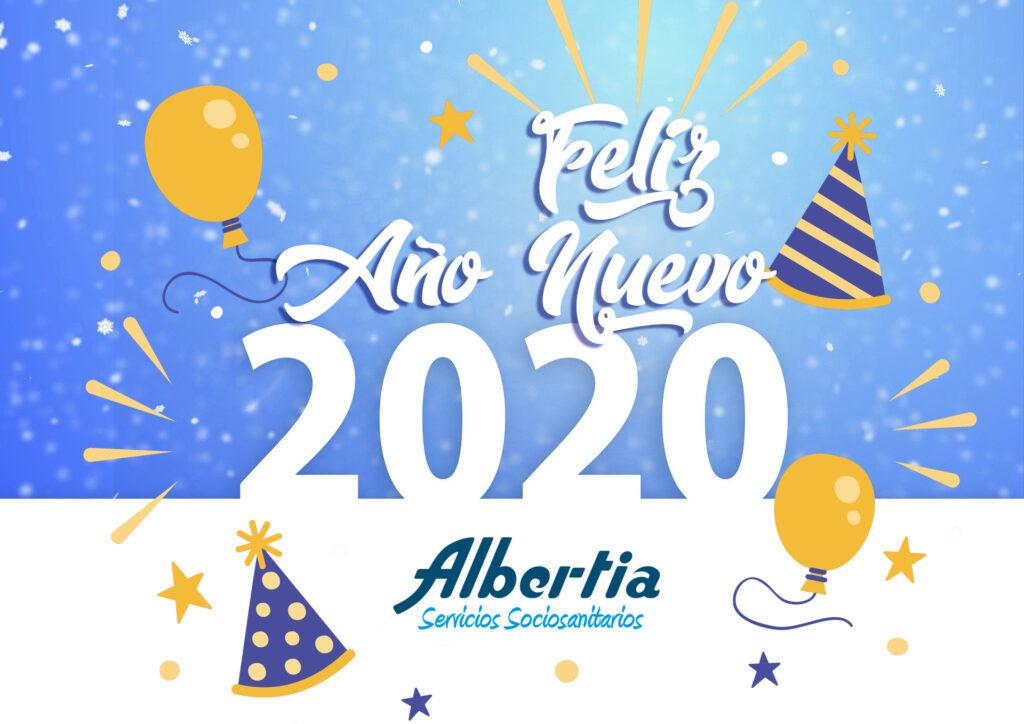 feliz año 2020 residencia mayores albertia