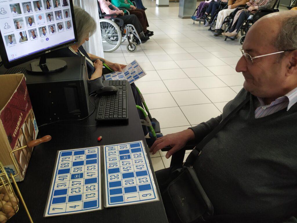 bingo terapia ocupacional residencia mayores albertia majadahonda
