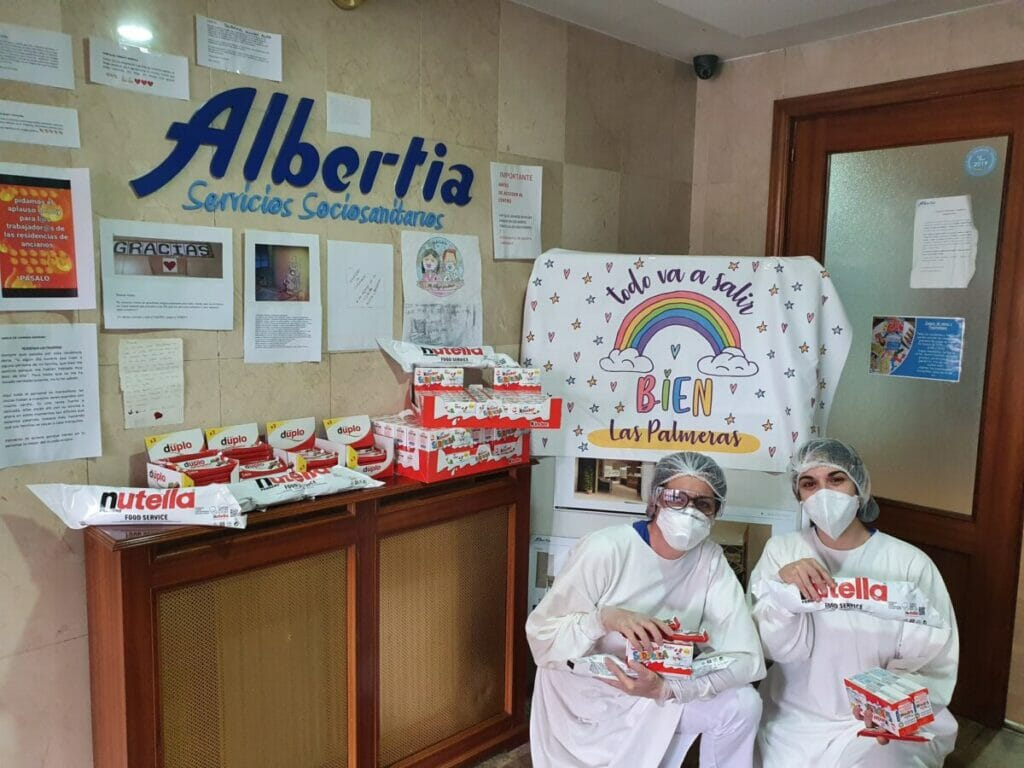 gracias residencia mayores las palmeras azuqueca albertia coronavirus ferrero mediamarkt